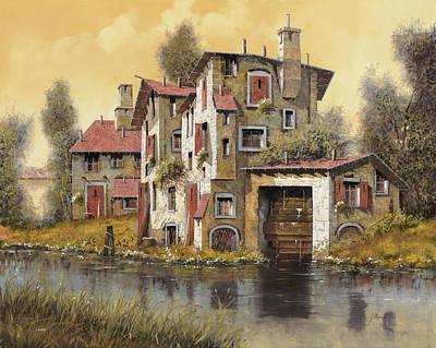 Sunset Painting - Il Mulino Giallo by Guido Borelli