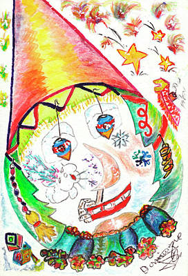 Tree With Eye Painting - Il Neige Sur Sa Vie // It Is Snowing On His/her Life by Dominique Fortier