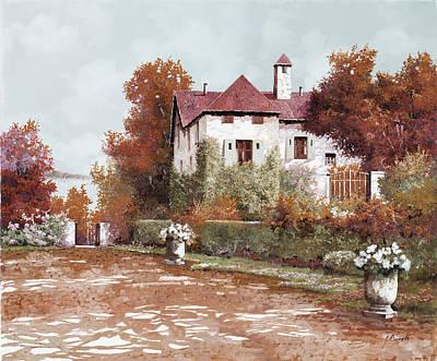 Villa Painting - Il Palazzo In Autunno by Guido Borelli