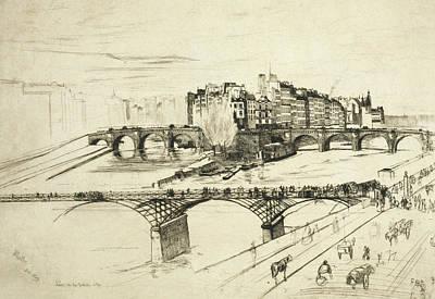 Tonalist Relief - Ile De La Cite Paris by James Abbott McNeill Whistler