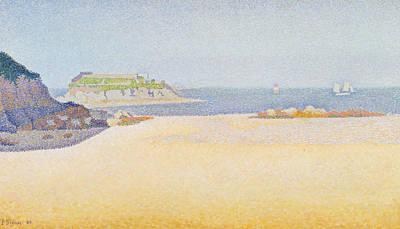 Sea View Painting - Ile La Comtesse, Pontrieux by Paul Signac