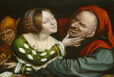 Quentin Matsys Painting - Ill-matched Lovers by Quentin Matsys