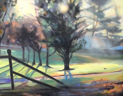 Illuminated Forest Original by Donna Tuten