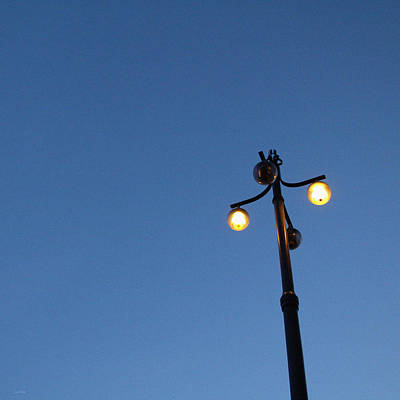 Lamp Post Photograph - Illuminated by Linda Woods