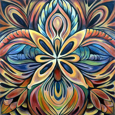 Mandala Painting - Illumination by Shadia Zayed