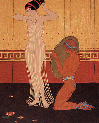 Sex Slaves Painting - Illustration From Les Chansons De Bilitis by Georges Barbier