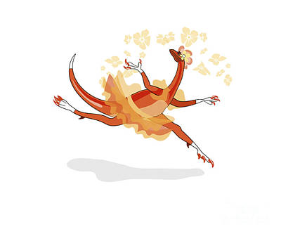 Illustration Of A Ballerina Dancing Print by Stocktrek Images