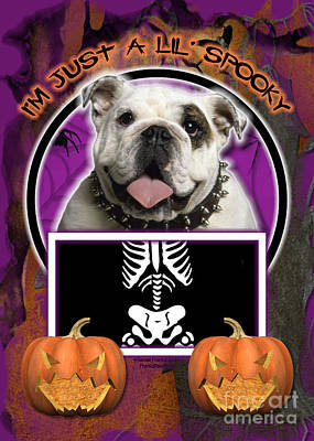 I'm Just A Lil' Spooky Bulldog Print by Renae Laughner