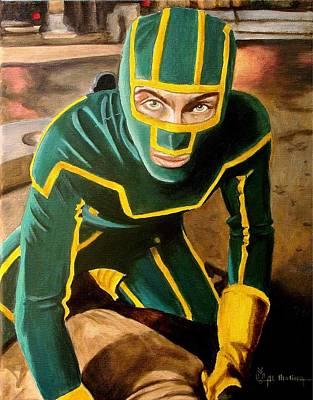 Kicked Painting - I'm Kick-ass by Al  Molina