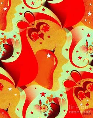 Splashy Art Painting - Am I Your Love? by Jean Clarke