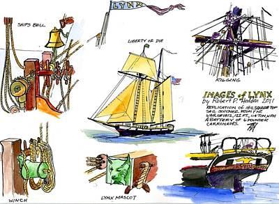 Images Of Tallship Lynx Original by Robert P Hedden