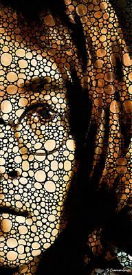Beetle Painting - Imagine - John Lennon Tribute by Sharon Cummings