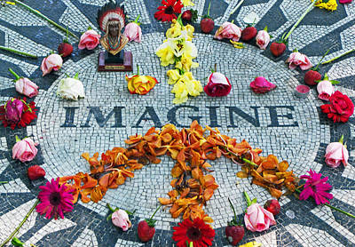 Lennon Photograph - Imagine Peace by Sharla Gentile