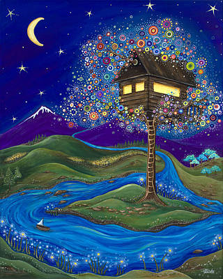 Treehouse Painting - Imagine by Tanielle Childers