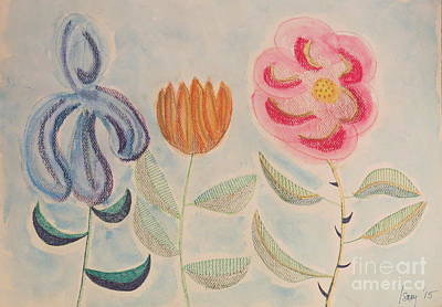Painting - Imagined Flowers Two by Rod Ismay