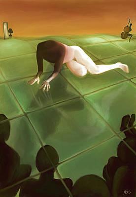 Subconscious Painting - Imago The Watching by Ari Rudenko