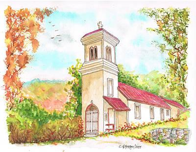 Immaculate Painting - Immaculate Concepcion Catholic Church, Sierra Nevada, California by Carlos G Groppa