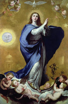 Sun Symbol Painting - Immaculate Conception by Jusepe de Ribera