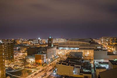 Cityscape Photograph - Immaulate Conception Church Washington Dc At Night by Bill Cannon