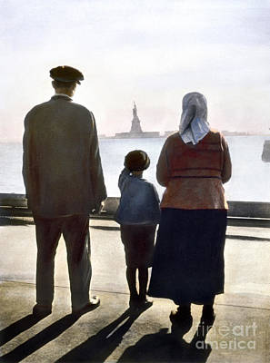 Ellis Photograph - Immigrants: Ellis Island by Granger