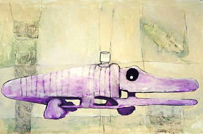 Immortal Wind-up Crocodile Print by Scott Rolfe