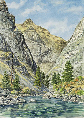 Salmon River Idaho Painting - Impassable Canyon Above Redside by Link Jackson