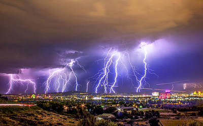 Lightning Bolt Photograph - Impending Doom by Steve Baranek