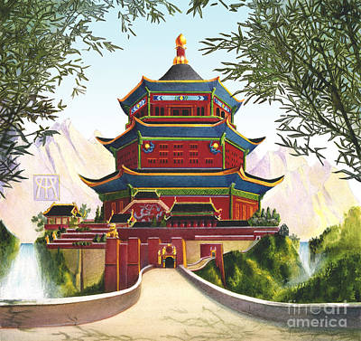 Imperial Palace Print by Melissa A Benson