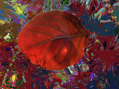 Imposition Of Leaf At The Season Print by Kenneth James