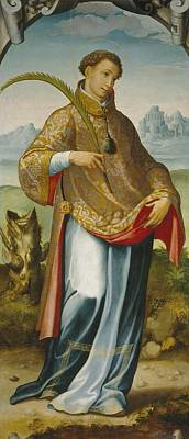 Imposition Of The Chasuble On Saint Ildefonso Print by MotionAge Designs