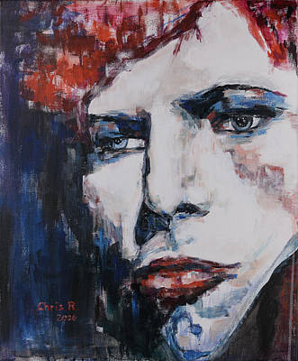 David Bowie Painting - Impression Under Pressure by Christel Roelandt