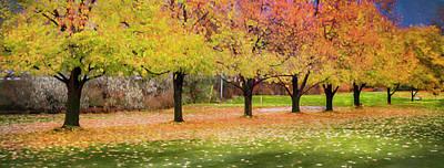 Impressionist Autumn Print by Theresa Tahara