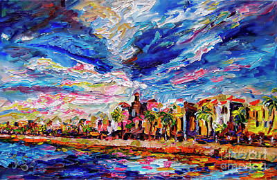 Charleston Houses Painting - Impressionist Charleston South Carolina The Battery by Ginette Callaway