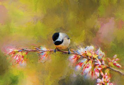 Chickadee Painting - Impressionist Chickadee by Jai Johnson