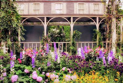 Impressionist Garden Print by Jessica Jenney