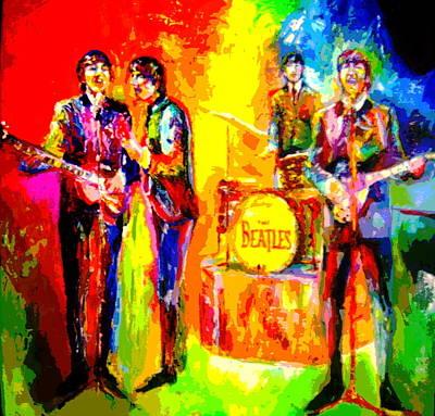 Impressionistc Beatles  Print by Leland Castro