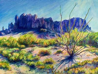 Impressions Of The Superstitions Print by Mary Knape