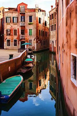 Vivacious Digital Art - Impressions Of Venice - Wandering Around The Small Canals by Georgia Mizuleva