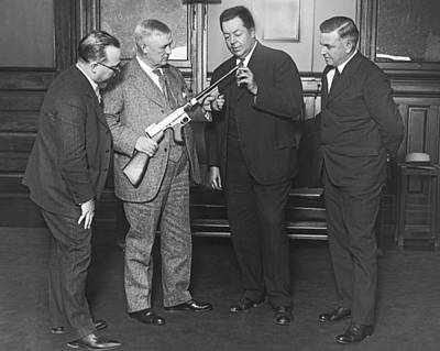 Improved Thompson Machine Gun Print by Underwood Archives