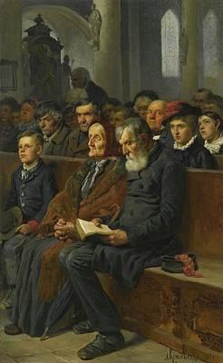 Alexei Painting - In A Church by Alexei Danilovich