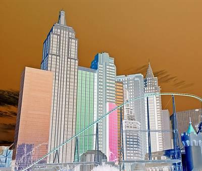 Digital Art - In A Make Belive Land, A Make Believe Skyline by Dan Stone