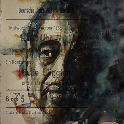 Composer Painting - In A Sentimental Mood Duke Ellington by Paul Lovering