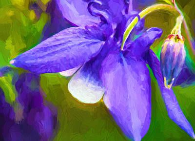 Blooming Digital Art - In A Spring Garden 2 - Impasto by Steve Harrington