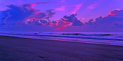 Violet Photograph - In All Its Brilliance Topsail Island by Betsy Knapp