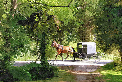 In Amish Country Print by John Trommer