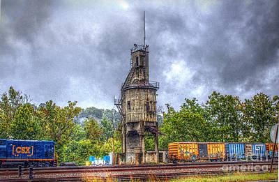 Digital Art - In An Old Freight Yard by Dan Stone