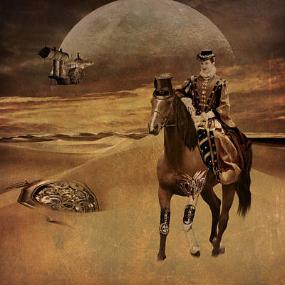 Horses Digital Art - In Another Time by Davandra Cribbie