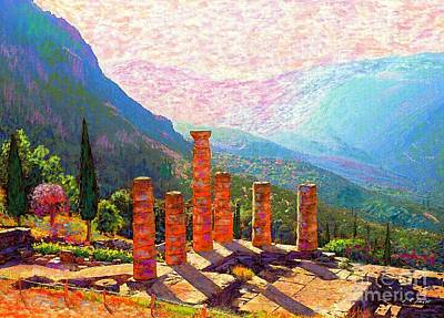 Mountain Valley Painting - In Awe Of Delphi by Jane Small