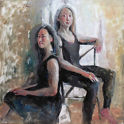 Bsk Painting - Daughters Of The Artist by Becky Kim