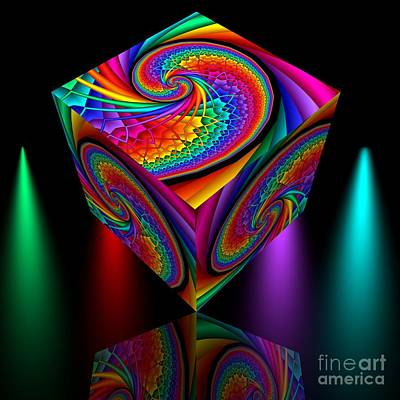 Fractal Digital Art - In Different Colors Thrown -4- by Issabild -